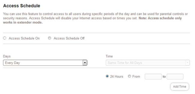 Access Schedule using mywifiext