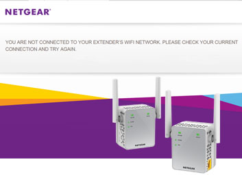 Netgear extender not connecting to internet
