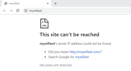 mywifiext net not working